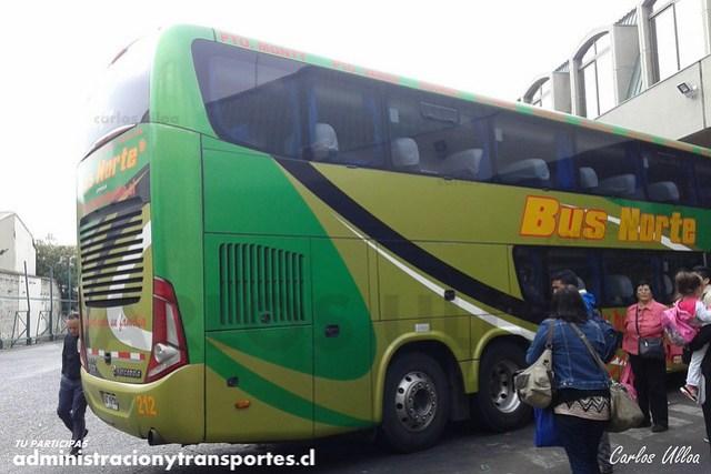 Bus Norte (Cama Ejecutivo) - Viña del Mar - Marcopolo Paradiso 1800 DD / Volvo (GDVG30) (212)