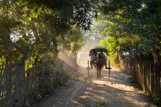Horse cart. Inwa