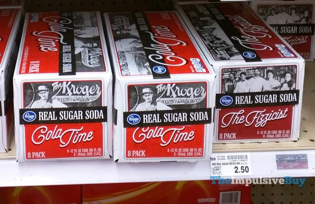 Kroger Real Sugar Soda Cola Time and The Fizzicist