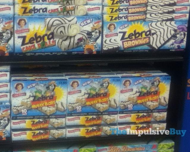 Little Debbie Zebra Cake Rolls, Zebra Brownies, and Zebra Nutty Bars