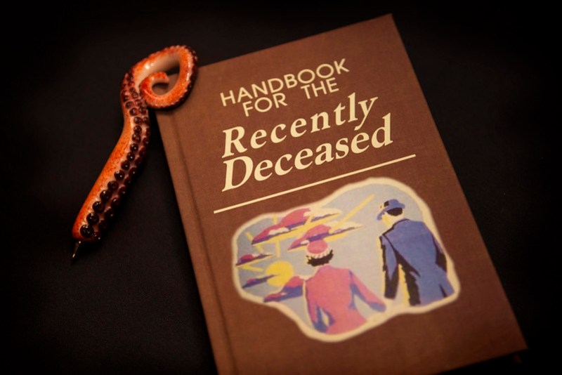 handbook for the recently deceased guest book