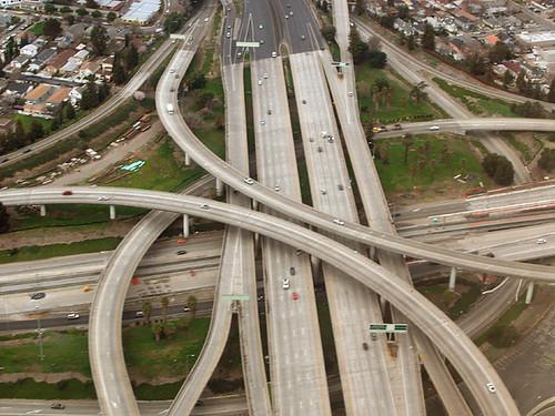 Above I-280 and Hwy 87, San Jose, Santa Clara County, California
