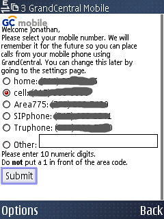 GrandCentral - Confirming your active number