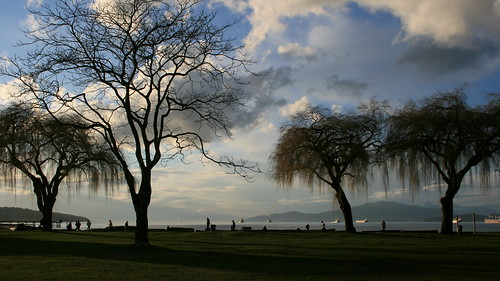 Kits beach just before sunset