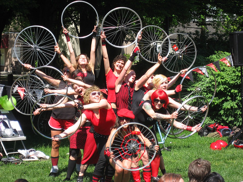 Bicycle Performance Art--not just the BC:clettes anymore!