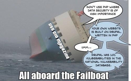 Failboat, meet security.