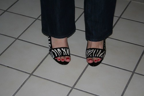 the zebra shoes