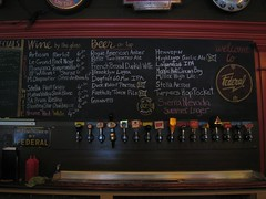 Federal beer board & taps
