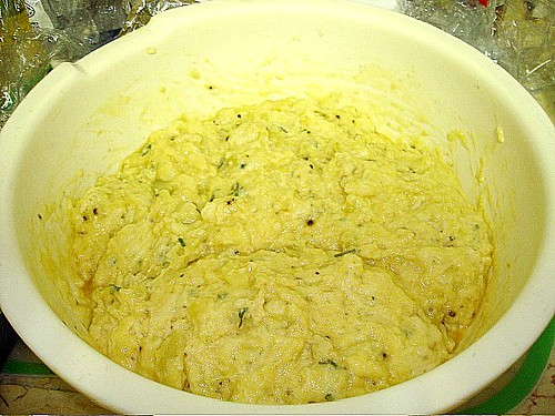 Potato and Sage Fritter Batter Risen