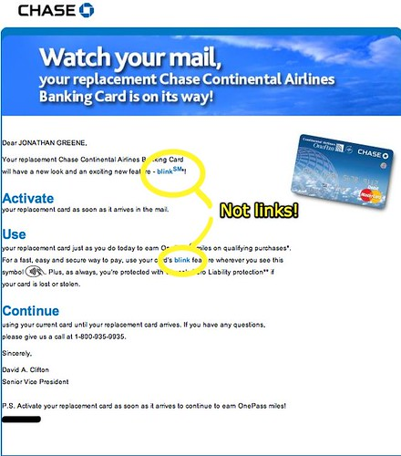 Chase email - WTF?