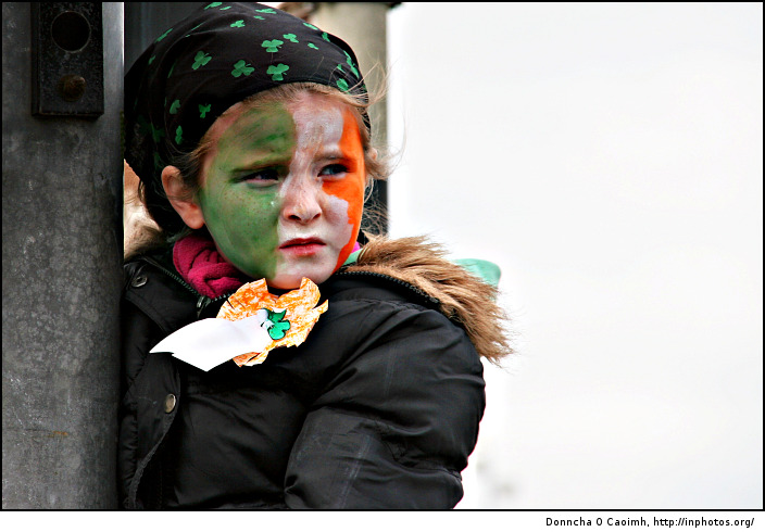 St. Patrick's Day Tricolour Girl