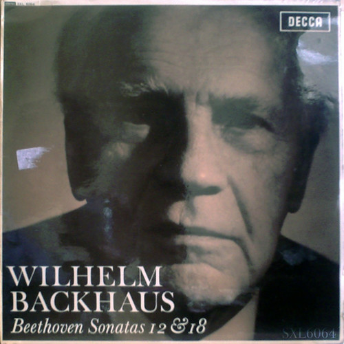虹色の光彩を放つピアノの美音☆ウィルヘルム・バックハウス(ピアノ)、ベートーヴェン:ピアノ・ソナタNo.12,No.18 ffss、スモールラベル