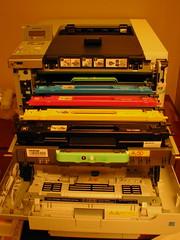 65lb, 4 colour, duplex laser printer