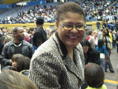 Karen Bass at Barack Obama Rally @ UCLA