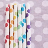 rainbow dots straw Sweet Lulu