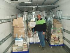 Stockage des livres prêts à la vente
