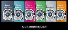 PowerShot SD1200 IS Digital ELPH lineup