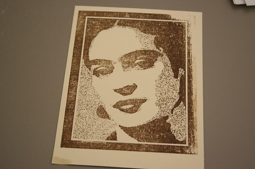 Frida stamp, portrait