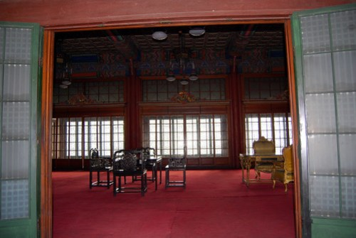 Interior, Huijeongdang Hall, Changdeokgung Palace
