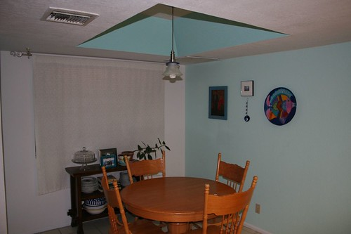 eating area, before