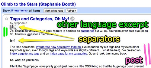 Basic Bilingual in Google Reader