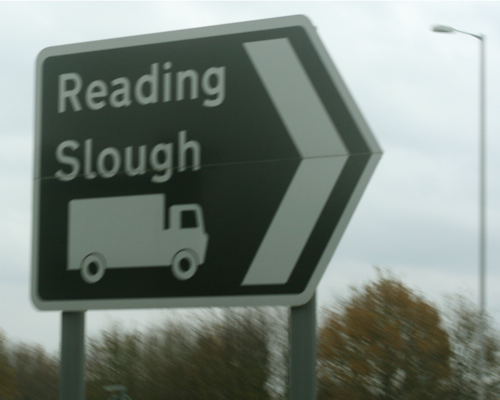 Reading Slough sign