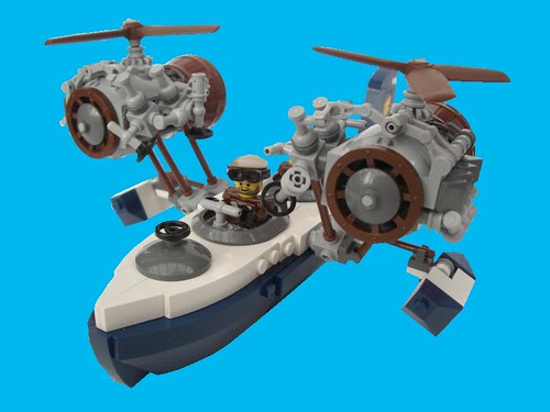 LEGO steampunk airship