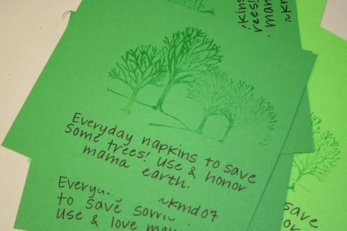 napkin tags: Sixth day of Christmas