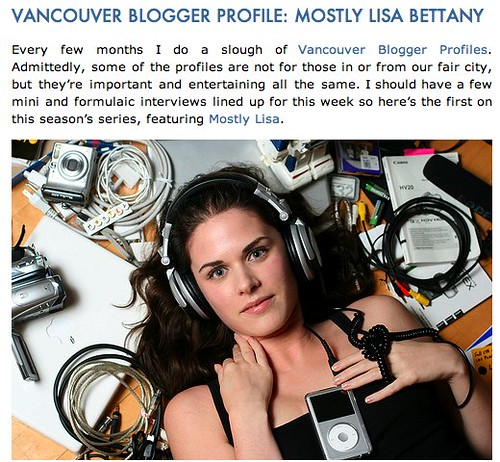 Mostly Lisa interview on Miss604.com
