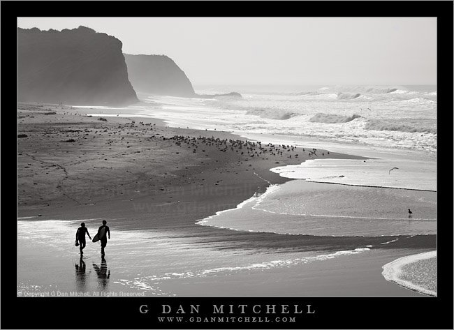 Winter Surfers, Northern California