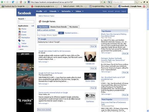 Google News Facebook App