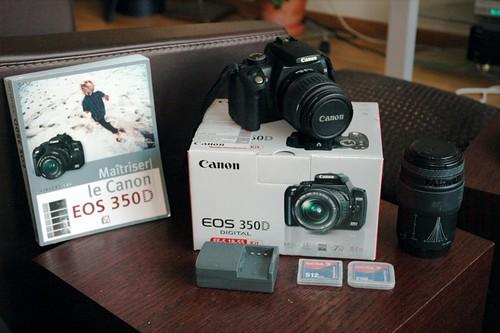 A VENDRE, équipement complet Canon EOS 350D