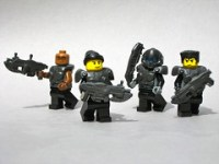 LEGO Gears of War character minifigs
