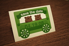 My eco-friendly save-the-dates