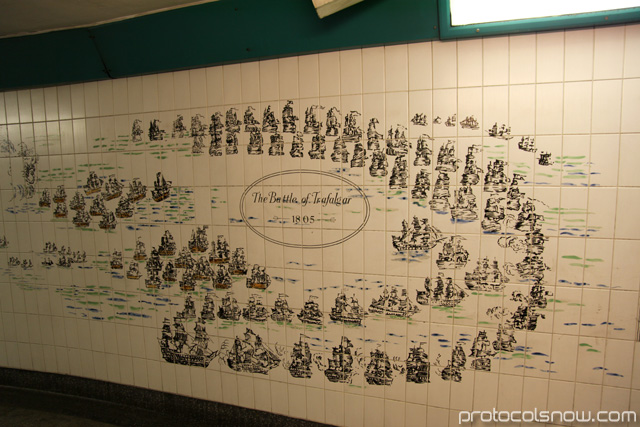 Battle of Trafalgar in London subway