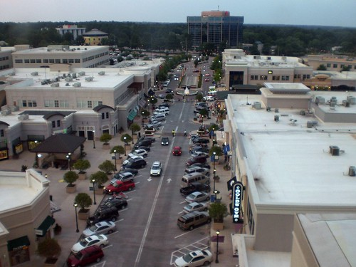 North Hills Mall Plaza from the Roof of Renaissance
