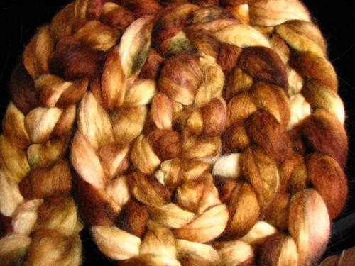 Autumn Oak BFL Top Roving