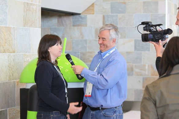 Leo Laporte and Gina Trapani at Google IO 2011