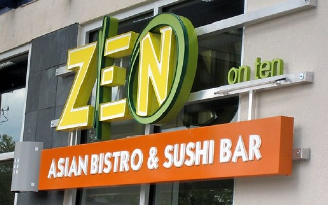 zen on ten - signage by you.