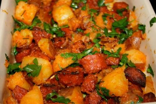 Chorizo & potato hash