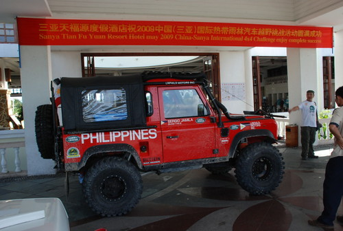 Team Land Rover Philippines arrives in China