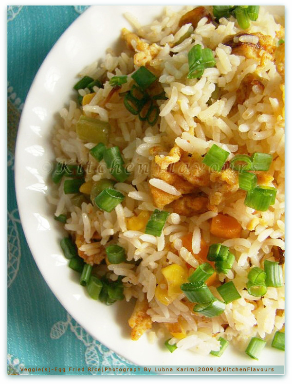 Vegetable Studded Egg Fried Rice
