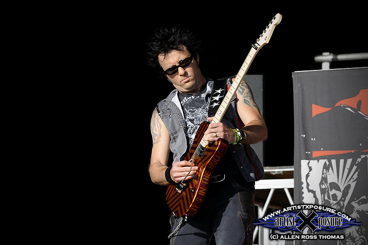 Erik Turner of Warrant performs at Rocklahoma 2009