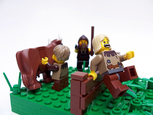 LEGO Cow tipping