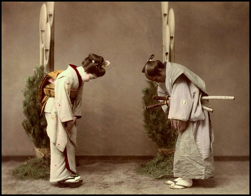 GEISHA SNEAKS OUT TO MEET UP WITH HER SAMURAI BOYFRIEND in OLD JAPAN