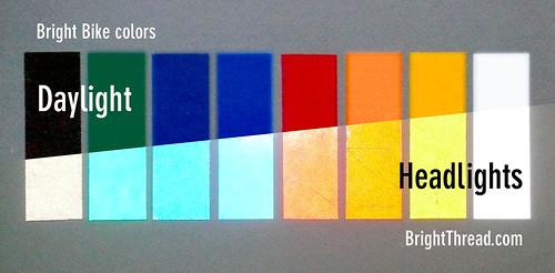 Bright Bike color chart