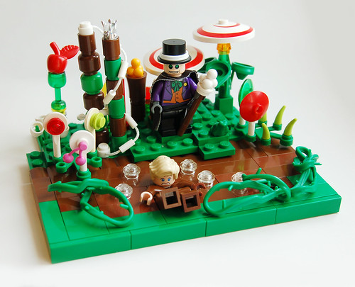 LEGO Willy Wonka with Augustus Gloop