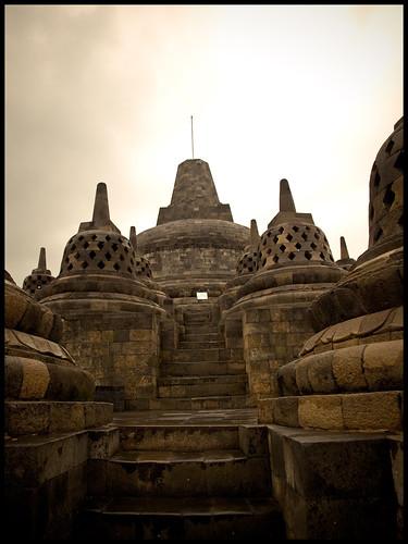 stupa sepia