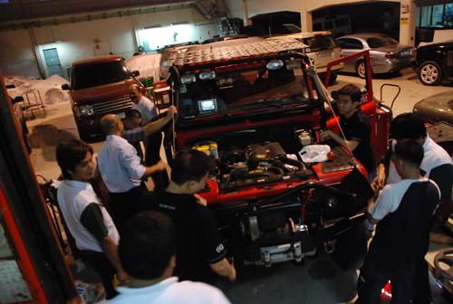 Team Land Rover Philippines Engine