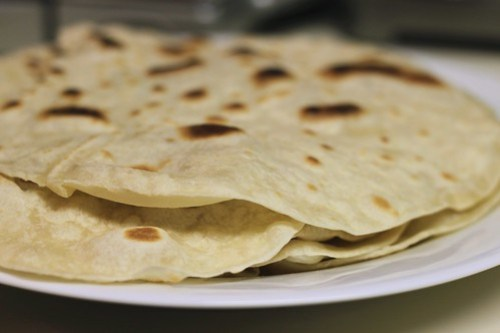 homemade tortillas for pumpkin tacos